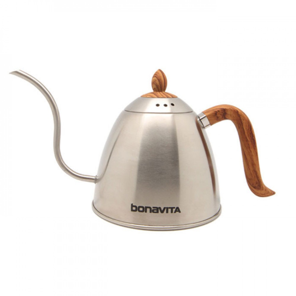 Brewista 700 ml. Kettle W/Wood grain handle and lid-Silver