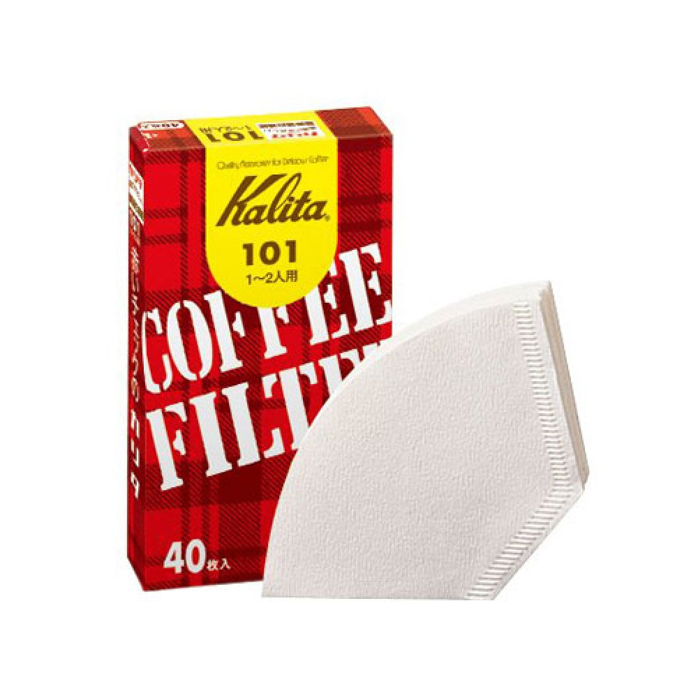 Kalita Coffee Shop's Coffee Filter 101 - White (40P)