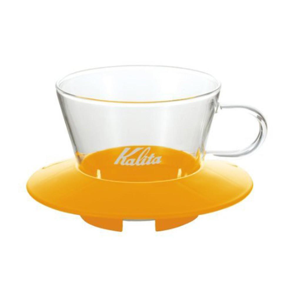 Kalita Glass Wave Dripper 185 (Mango Yellow)