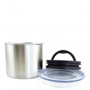 "Airscape Stainless Steel Canister 4"" Small for 1/2 lb. (250 g) Whole bean Coffee"