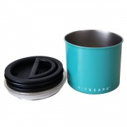 "Airscape Classic Stainless Steel 4"" Turquoise (AS0604) Small For 1/2 Lb. (250 G) Whole Bean Coffee"
