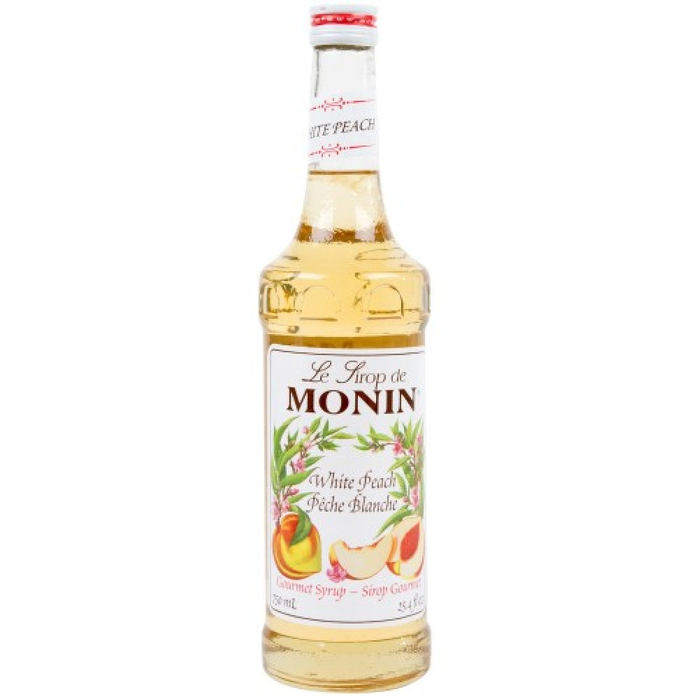 Monin Syrup White Peach 700 ml.